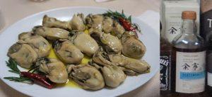 牡蠣と余市